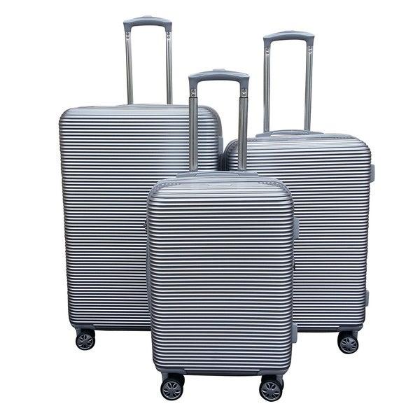 Kemyer Elite Silver 3-piece Polycarbonate Hardside Spinner Luggage Set