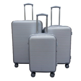 Kemyer Elite Silver 3-piece Polycarbonate Hardside Spinner Luggage Set
