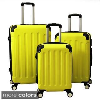 World Traveler Madison 3-piece Hardside Spinner Wheels Luggage Set
