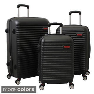 World Traveler Departures 3-piece Hardside Spinner Luggage Set