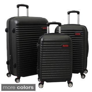 World Traveler Departures 3-piece Hardside Spinner Luggage Set