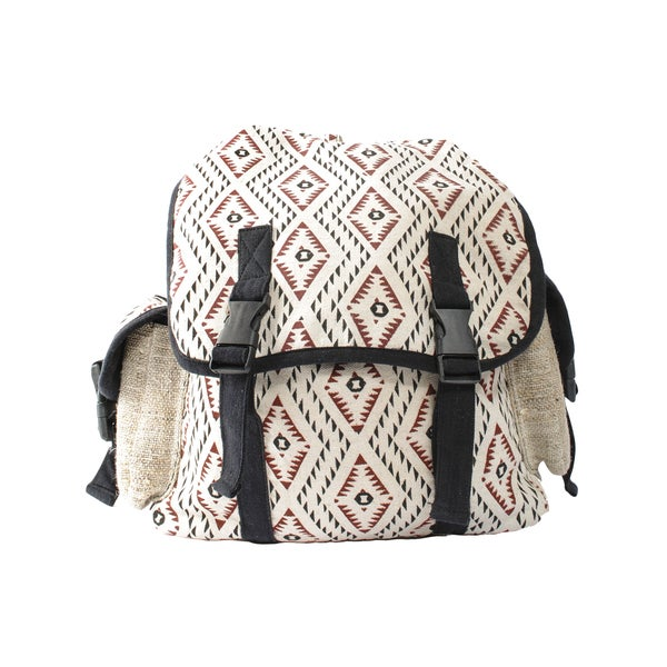 Tribal Print Eco Cotton Canvas Backpack (Nepal)