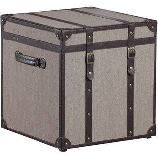 Linon Twill Storage Trunk