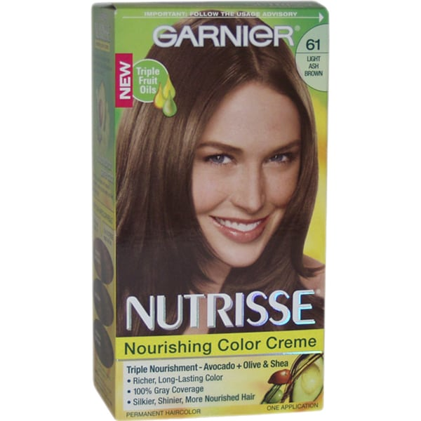 Garnier Nutrisse Nourishing Color Creme #61 Light Ash Brown Hair Color