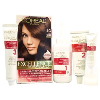 L'Oreal Paris Excellence Creme Pro-Keratine #4G Dark Golden Brown Warmer