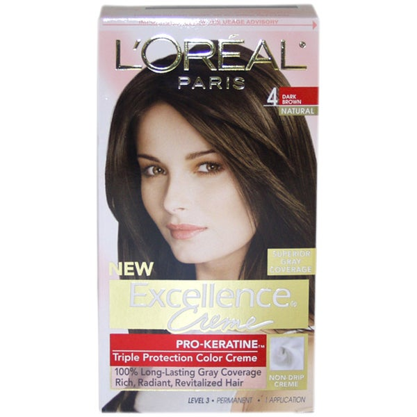 L'Oreal Paris Excellence Creme Pro-Keratine #4 Dark Brown Natural