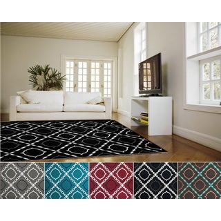 Admire Home Living Demi Trellis Area Rug (5'5 x 7'7)