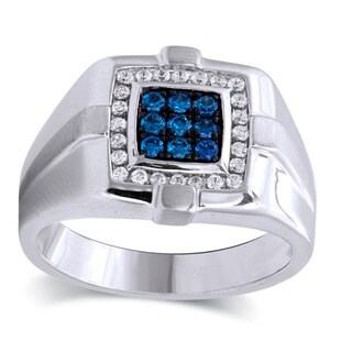 Bridal Symphony Sterling Silver 1/2ct TDW Diamond Bridal Symphony Men's Ring (I-J, I2-I3)
