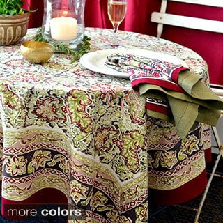 Couleur Nature Malini 90-inch Round Tablecloth