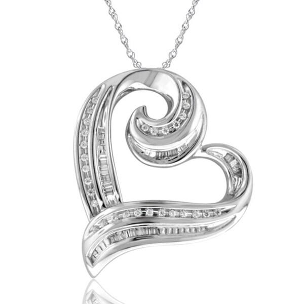 Bridal Symphony 1/4 CT Diamond Sterling Silver Pendant (I-J, I2-I3)