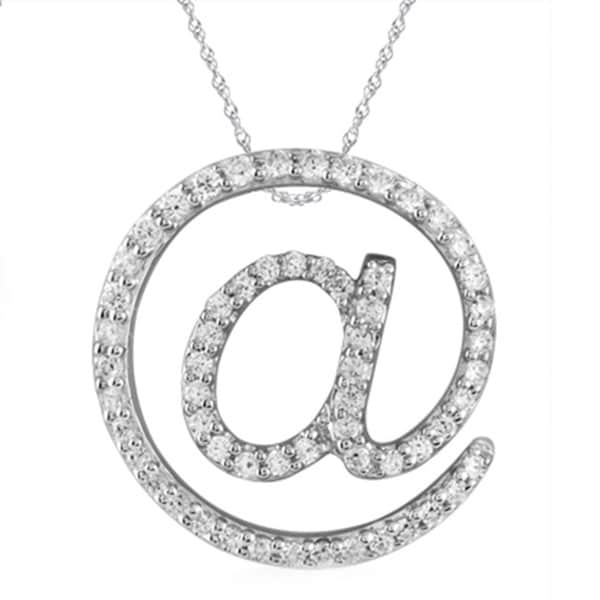 Bridal Symphony Sterling Silver 1/3ct TDW White Diamond Symbol Pendant Necklace (I-J, I3)