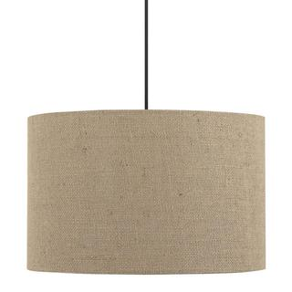 Traditional 1-light Pendant in Dark Bronze with Brown shade