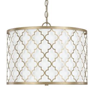 Capital Lighting Ellis Collection 3-light Brushed Gold Dual Mount Pendant