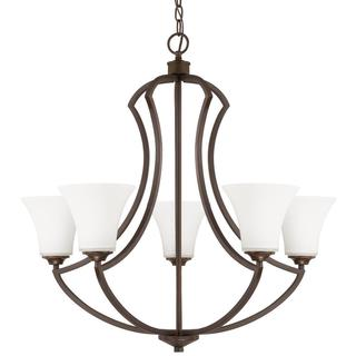 Capital Lighting Sidney Collection 5-light Burnished Bronze Chandelier