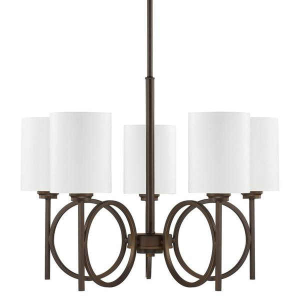 Halo 5-light Chandelier in Burnished Bronze