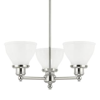 Capital Lighting Baxter Collection 3-light Polished Nickel Chandelier