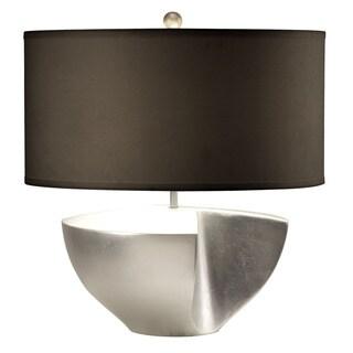 Nova Lighting Sunder Table Lamp Silver with Sundered Body Design