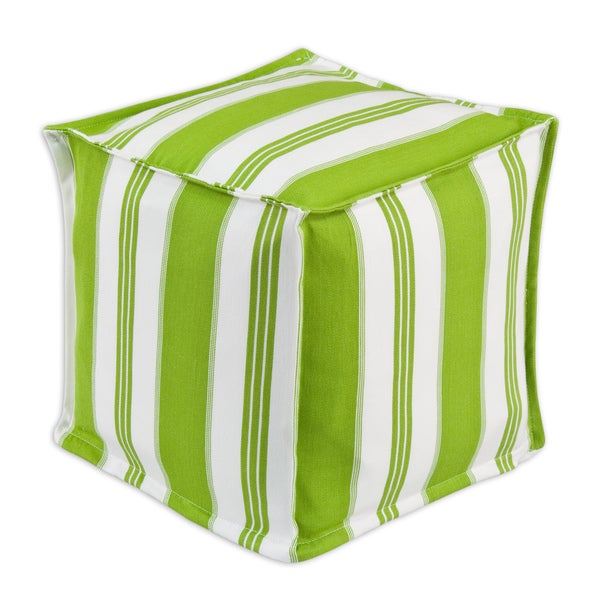 Trade Winds Island Green Zippered Pouf