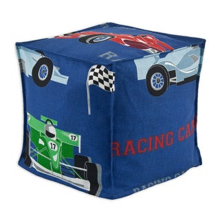 Racing Cars Zippered Pouf