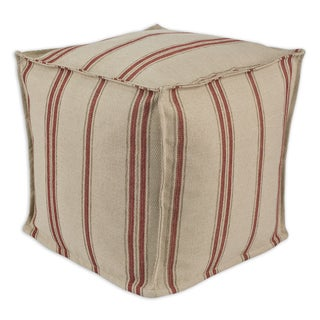 """Rafting Pearl 17"""" Square Seamed Pellet Hassock Pouf"""