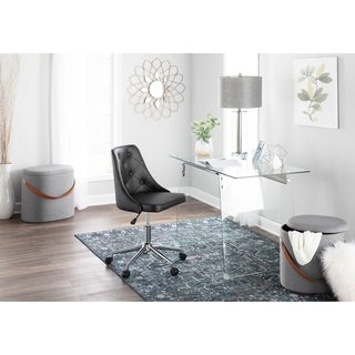 Glacier Modern Glass Home Office Desk