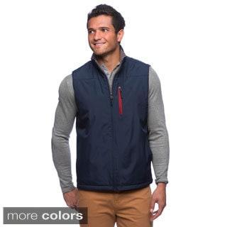Izod Men's Rip Stop Water-resistant Vest with Fleece Lining