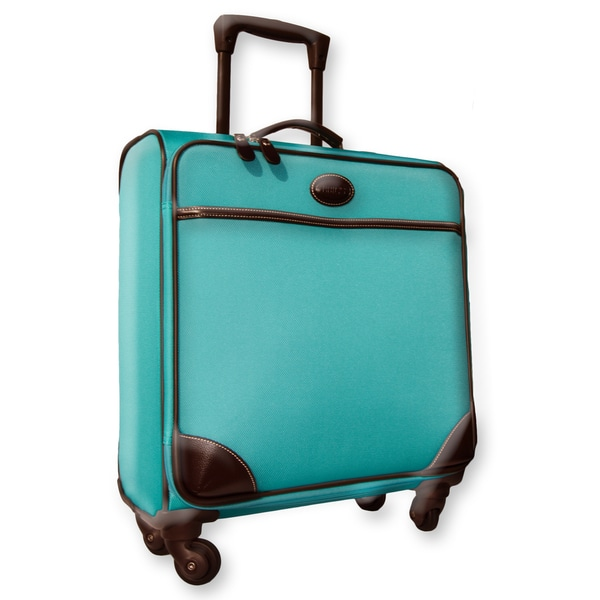 Brics Pronto 20-inch Aquamarine Wide-body Carry On Spinner Upright Suitcase