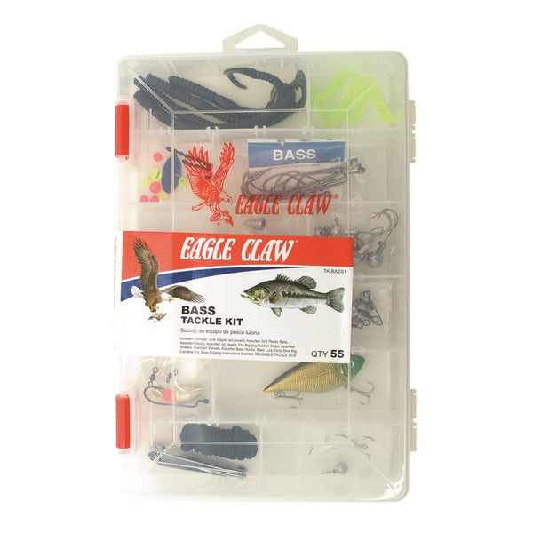 Eagle Claw 55-piece Bass Tackle Kit