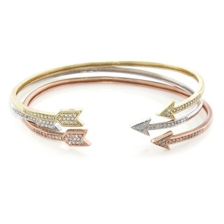 Eternally Haute Cubic Zirconia Arrow Sentiment Bangles