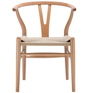Weave Wishbone Style Y Arm Chair in Natural