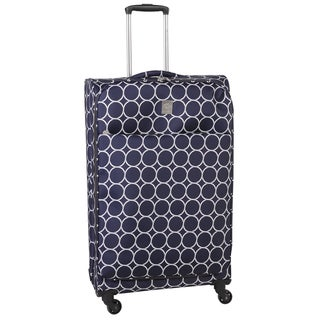 Jenni Chan Aria Park Ave Navy Ultralite 28-inch Large Spinner Upright Suitcase