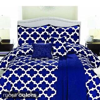 Geometric Cameron 6-piece Microfiber Comforter Set