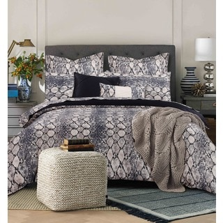 Tribeca Living Kenya 5-piece Snake Printed Cotton Duvet Cover Set