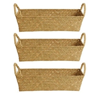 Natural Seagrass-reed Basket (Set of 3)