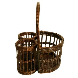 Wald Imports Willow Wine Basket