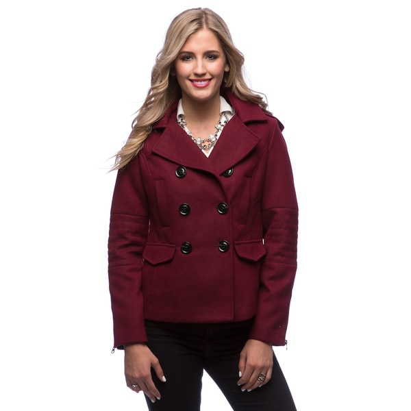 maralyn amp me womens pea coat with removable hood