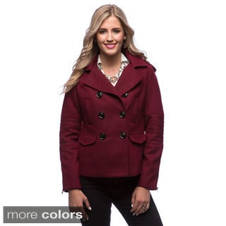 Maralyn & Me Women's Pea Coat with Removable Hood