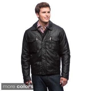 Izod Men's Faux Leather Jacket
