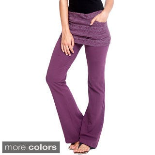 Women's Organic Cotton Tribal Yoga Skirted Pants (Nepal)