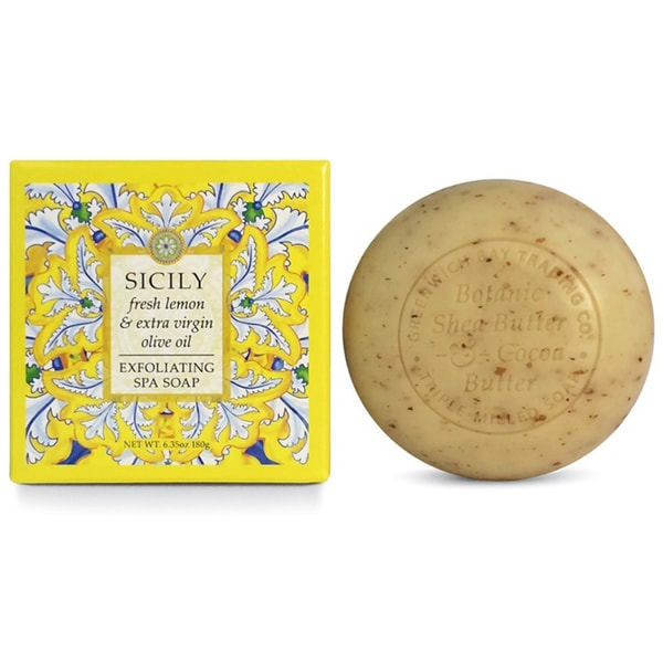 Greenwich Bay Trading Co. Fresh Lemon & Extra Virgin Olive Oil Exfoliating Spa Soap (Set of 2)