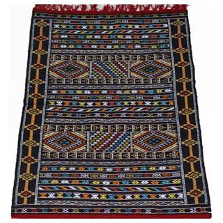 Hand-Woven Moroccan Kilim Rug (3.4' x 4.7')