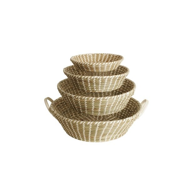 Round Seagrass Bowls (Set of 4)