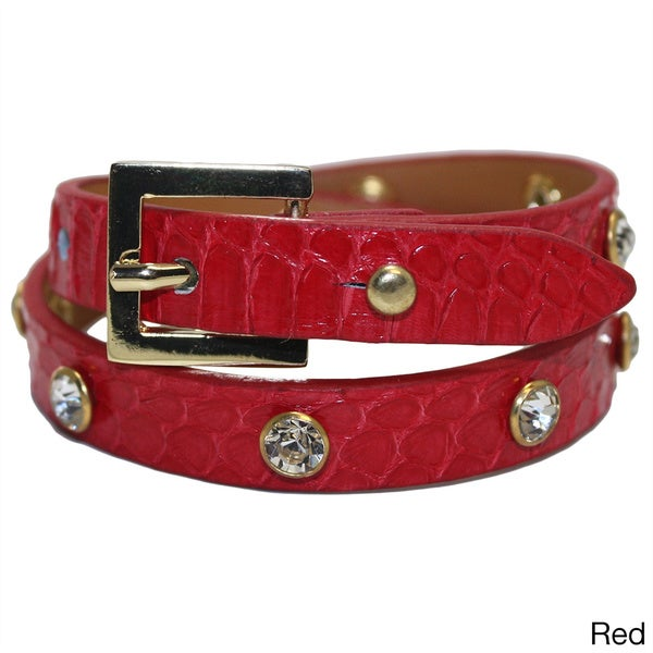 Genuin Land Snake Leather Belt Style Bracelet