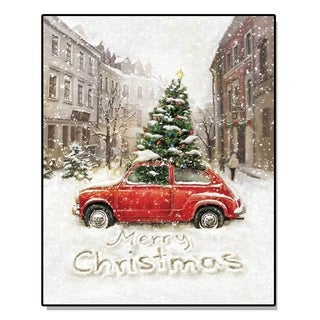 'Christmas Bug in the City' Lighted Canvas Art