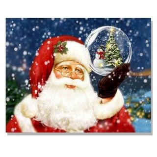 'Santa's Wish List' Lighted Canvas Art
