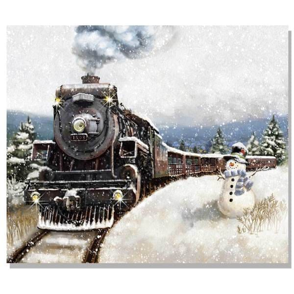 'North Pole Express' Lighted Canvas Art