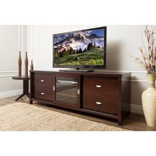 ABBYSON LIVING Malibu Solid Oak Wood 72-inch Cappuccino TV Console