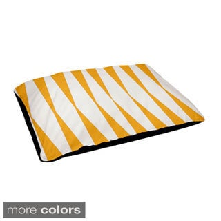 18 x 28-inch Indoor Large Diamond Stripe Print Dog Bed