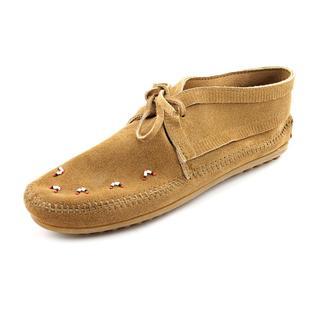 Minnetonka Women's 'Beaded Moccasin' Regular Suede Casual Shoes