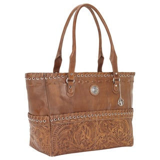 American West Golden Tan Carry-On Tote
